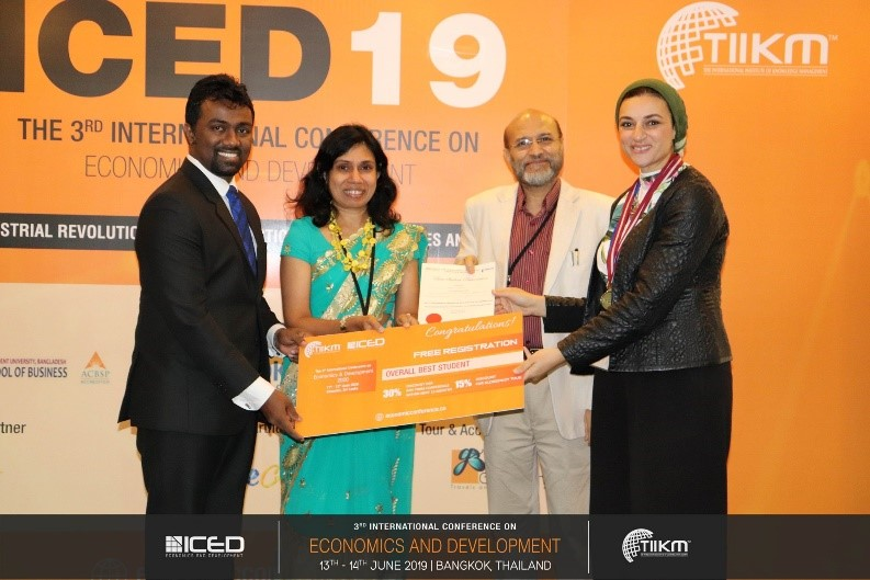 Conference Award Winners - ICED 2019 - TIIKM Blog